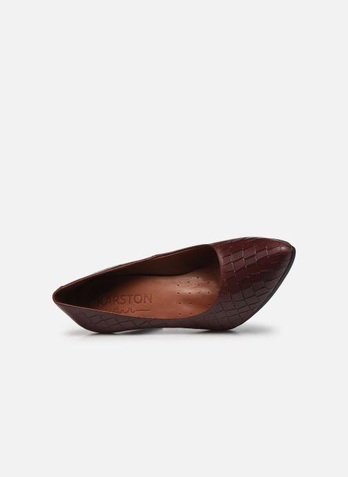 Zapatos de tacón Karston MYCHA Rojo vista lateral izquierda