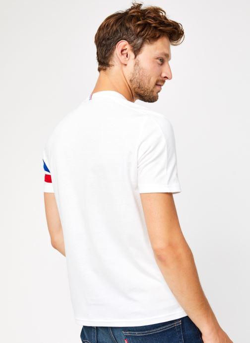 Vêtements Le Coq Sportif TRI Tee SS N°2 M Blanc vue portées chaussures