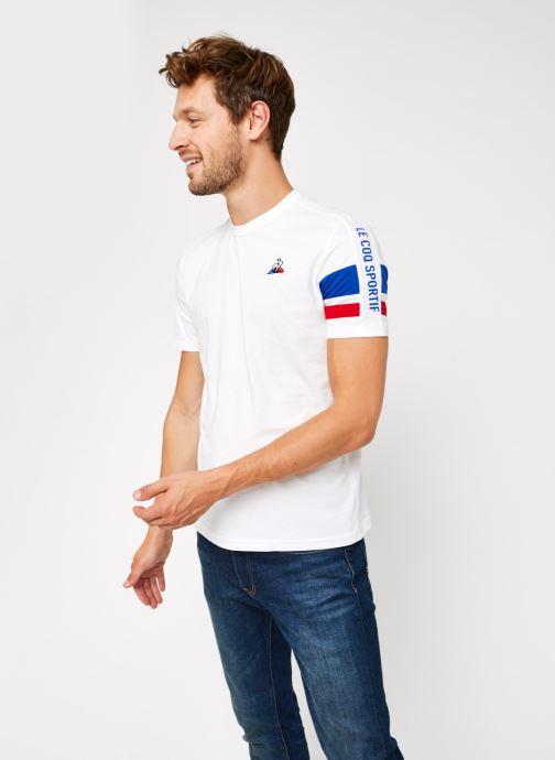 Vêtements Le Coq Sportif TRI Tee SS N°2 M Blanc vue droite
