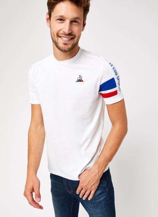 Vêtements Le Coq Sportif TRI Tee SS N°2 M Blanc vue détail/paire