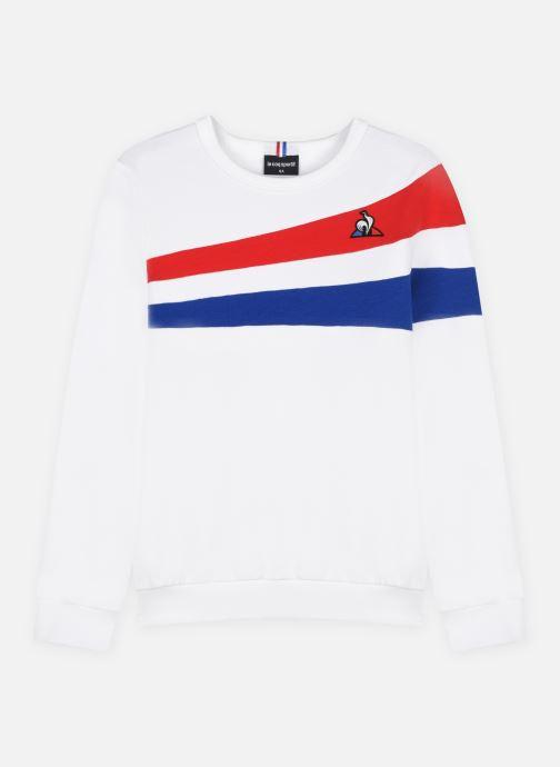 Vêtements Le Coq Sportif TRI Crew Sweat N°1 Enfant Blanc vue détail/paire