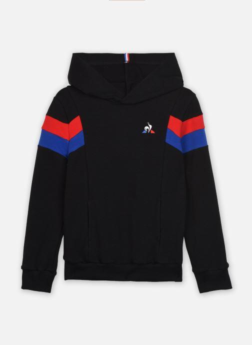 Kleding Le Coq Sportif TRI Hoody N°1 Enfant Zwart detail