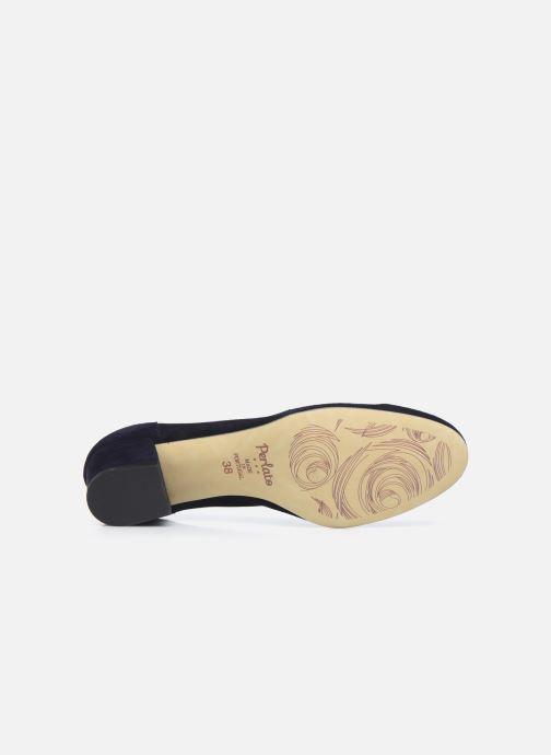 Zapatos de tacón Perlato 10518 Azul vista de arriba