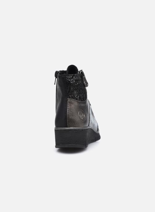 Sneaker Rieker Aurélia schwarz ansicht von rechts