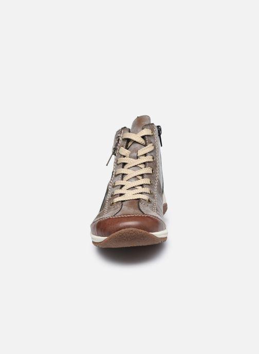 Baskets Rieker Maria Marron vue portées chaussures