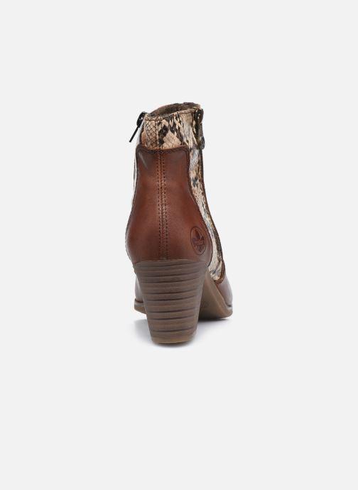 Bottines et boots Rieker Leila Marron vue droite