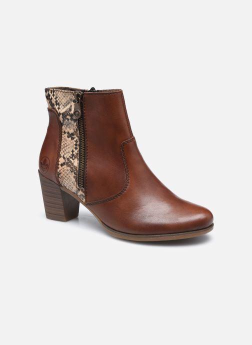 Bottines et boots Rieker Leila Marron vue détail/paire