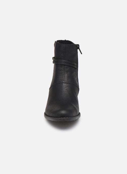 Bottines et boots Rieker Louise Noir vue portées chaussures