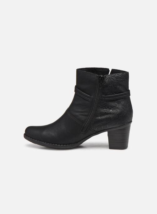 Bottines et boots Rieker Louise Noir vue face