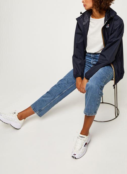 Vêtements K-Way  Le Vrai 3.0 Claude F Bleu vue bas / vue portée sac