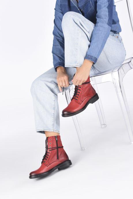 Bottines et boots Dorking D8289 Matrix Rouge vue bas / vue portée sac