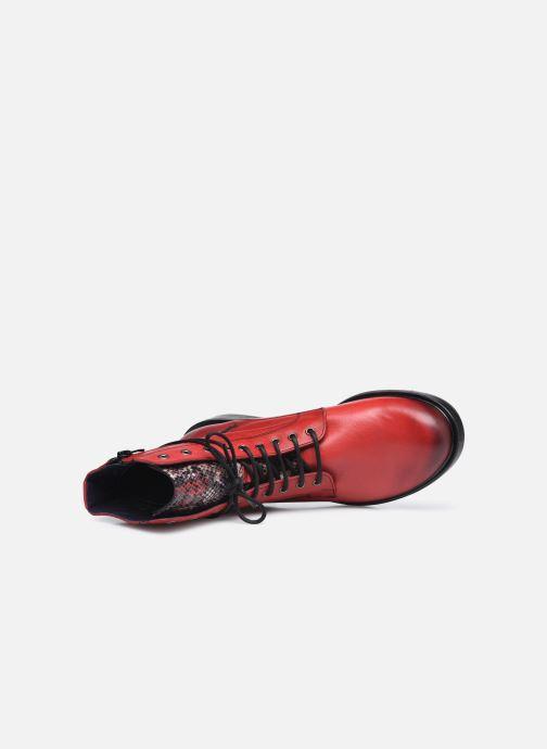 Bottines et boots Dorking D8289 Matrix Rouge vue gauche