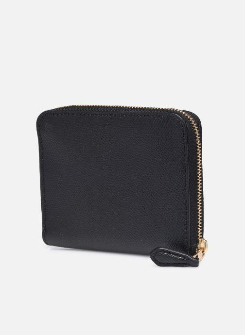 Portemonnaies & Clutches Coach Small Zip Around Wallet schwarz ansicht von rechts