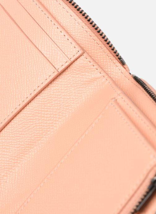 Pelletteria Coach Small Zip Around Wallet Rosa immagine sinistra