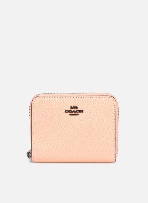 Kleine lederwaren Coach Small Zip Around Wallet Roze detail