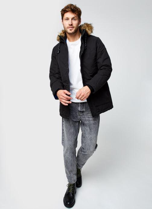 Vêtements Jack & Jones Jjsky Parka Jacket Noir vue bas / vue portée sac