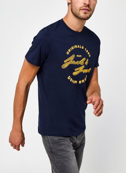 Vêtements Jack & Jones Jorreuben Tee Ss Crew Neck Bleu vue droite