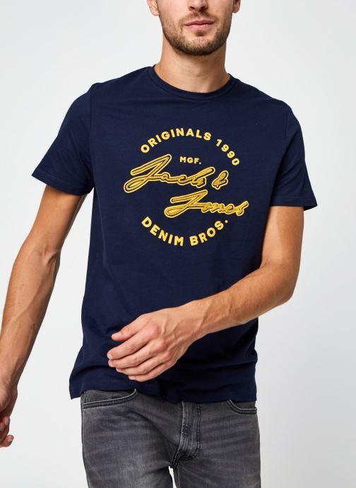 Vêtements Jack & Jones Jorreuben Tee Ss Crew Neck Bleu vue détail/paire