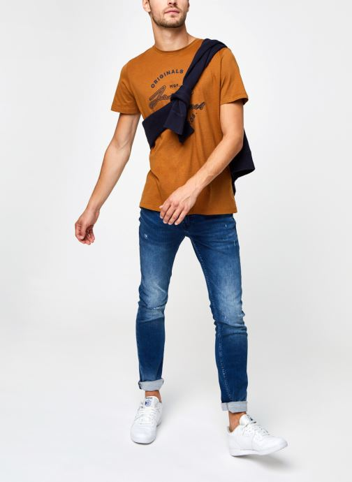 Vêtements Jack & Jones Jorreuben Tee Ss Crew Neck Marron vue bas / vue portée sac