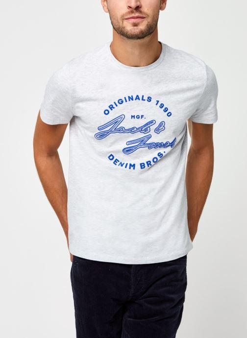 Vêtements Jack & Jones Jorreuben Tee Ss Crew Neck Gris vue droite