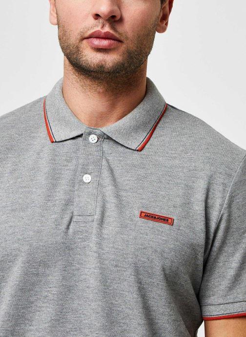 Vêtements Jack & Jones Jorlondon Polo Ss Gris vue face