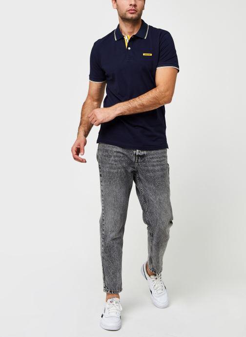 Vêtements Jack & Jones Jorlondon Polo Ss Bleu vue bas / vue portée sac