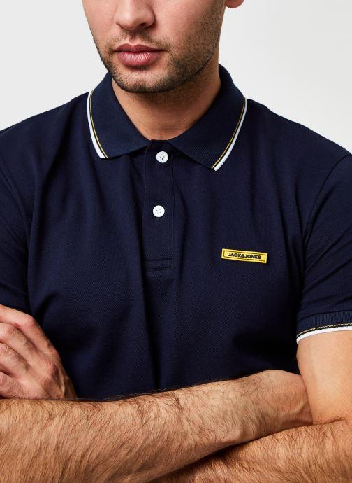 Vêtements Jack & Jones Jorlondon Polo Ss Bleu vue face