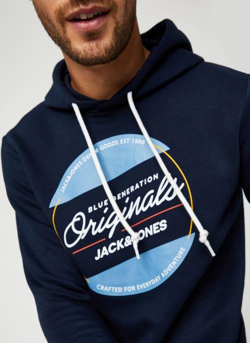 Vêtements Jack & Jones Jortonni Sweat Hood Sts Bleu vue face