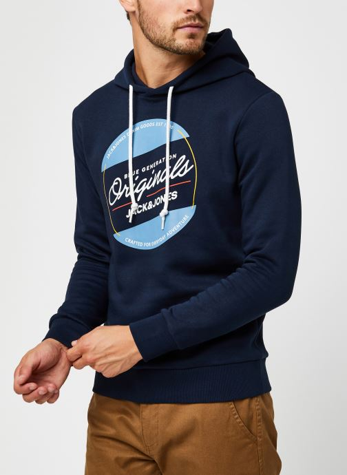 Vêtements Jack & Jones Jortonni Sweat Hood Sts Bleu vue droite