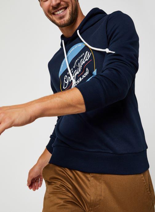 Vêtements Jack & Jones Jortonni Sweat Hood Sts Bleu vue détail/paire
