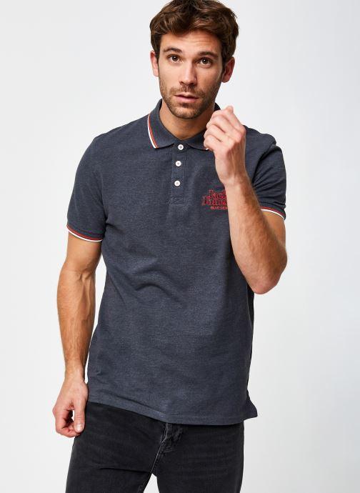 Vêtements Jack & Jones Jorlars Polo Ss Gris vue droite