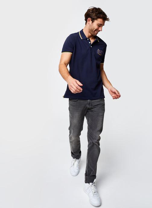 Vêtements Jack & Jones Jorlars Polo Ss Bleu vue bas / vue portée sac
