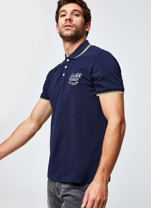 Vêtements Jack & Jones Jorlars Polo Ss Bleu vue droite