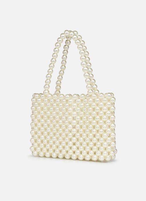 Handtaschen Moune Paris Jenie weiß schuhe getragen