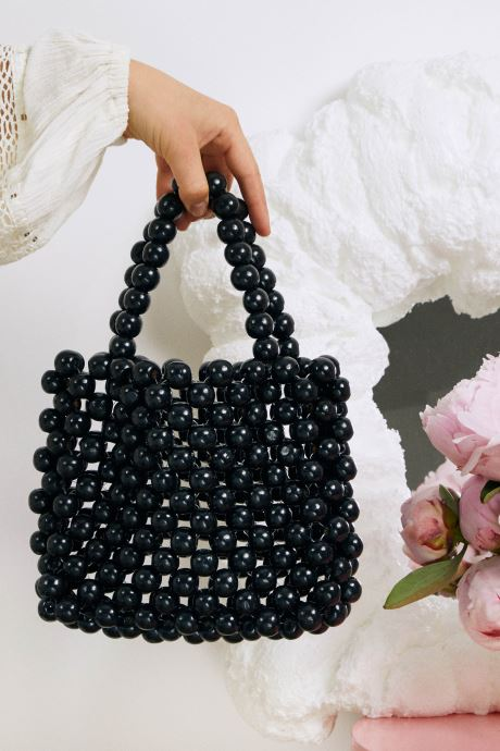 Handtaschen Moune Paris Blabla schwarz ansicht von hinten