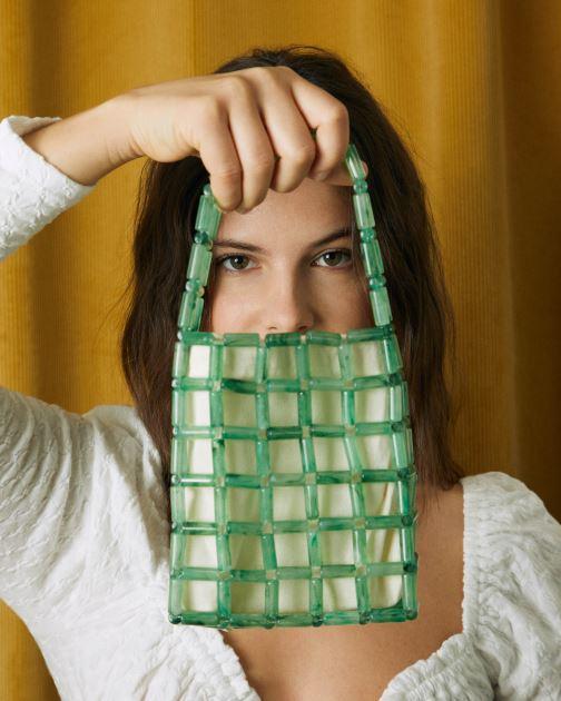 Handtaschen Moune Paris Grinie grün ansicht von oben