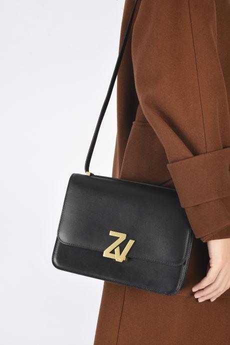 Sacs à main Zadig & Voltaire ZV INITIALE CIT Noir vue bas / vue portée sac