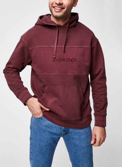 Kleding Levi's Relaxed Fit Novelty Hood Rood detail