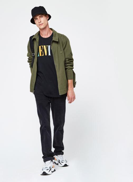 Vêtements Levi's Haight Harrington Jacket Vert vue bas / vue portée sac