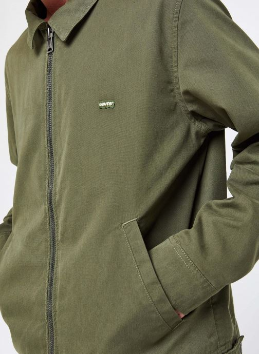 Kleding Levi's Haight Harrington Jacket Groen voorkant