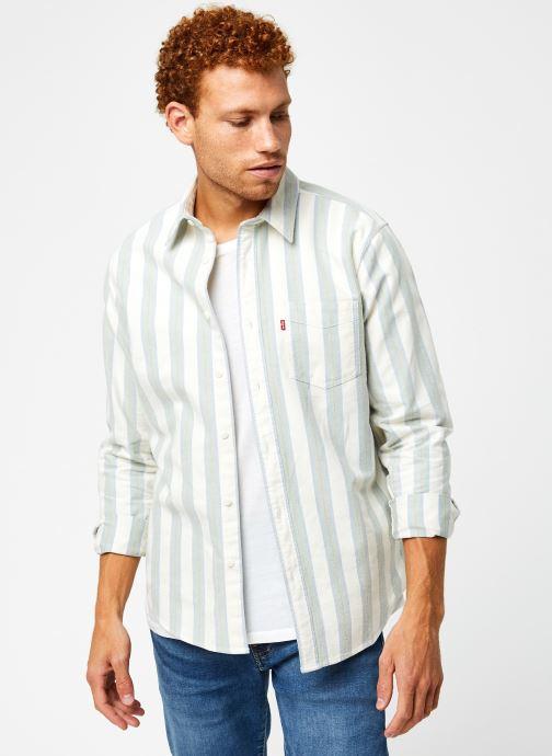 Vêtements Levi's Sunset 1 Pocket Standard Vert vue détail/paire