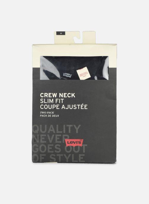 Vêtements Levi's Slim 2 Pack Crewneck 1 Noir vue derrière