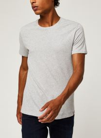 2 Pack Slim Crew White/ Med Heather Gre