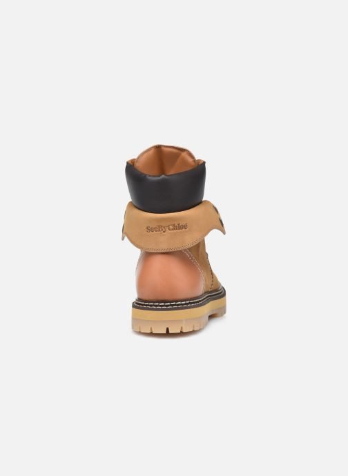Botines  See by Chloé Eileen Ankle Boot Beige vista lateral derecha