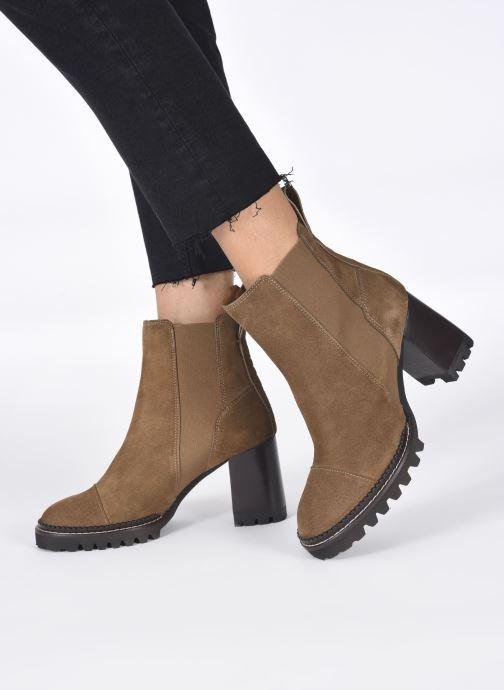 Stiefeletten & Boots See by Chloé Mallory Ankle Boot braun ansicht von unten / tasche getragen