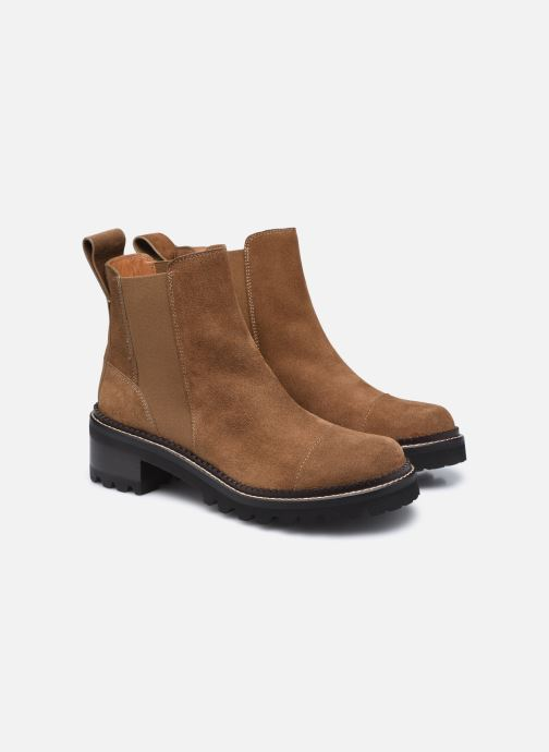 Bottines et boots See by Chloé Mallory Low Boot Marron vue 3/4