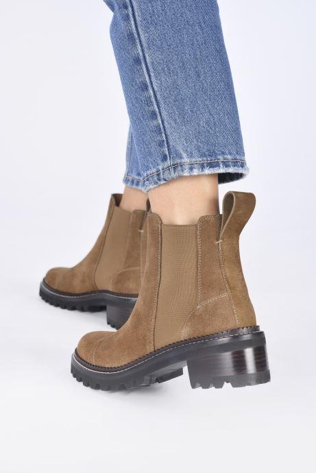 Bottines et boots See by Chloé Mallory Low Boot Marron vue bas / vue portée sac