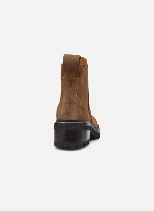 Bottines et boots See by Chloé Mallory Low Boot Marron vue droite