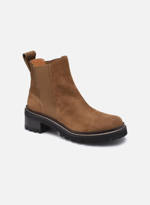 Bottines et boots See by Chloé Mallory Low Boot Marron vue détail/paire