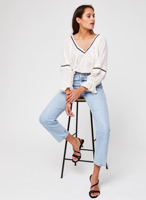 Vêtements Free People Darcy Eyelet Blouse Blanc vue bas / vue portée sac